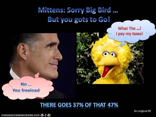Mittens: Big Bird, You gots to go!!