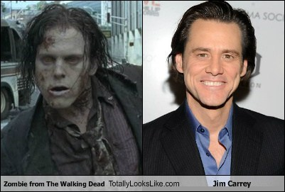 Zombie from The Walking Dead Totally Looks Like Jim Carrey