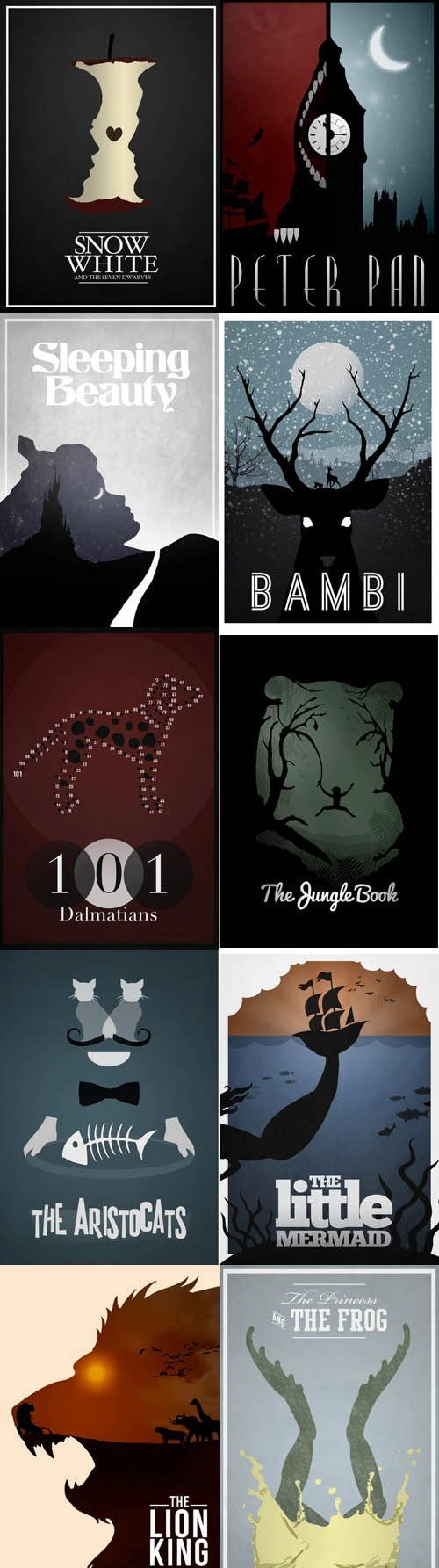 Minimalist Disney Movie Posters