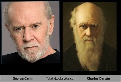 George Carlin Totally Looks Like Charles Darwin