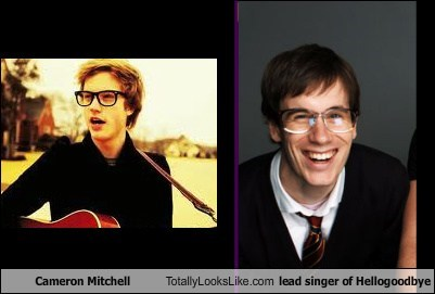 Cameron Mitchell Totally Looks Like lead singer of Hellogoodbye