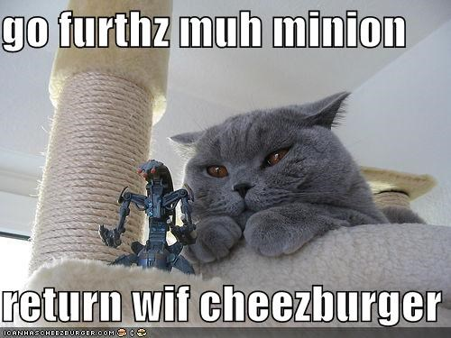 go furthz muh minion  return wif cheezburger