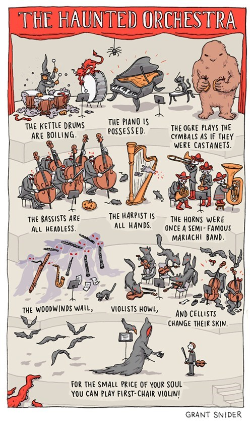 monster,halloween,the haunted orchestra