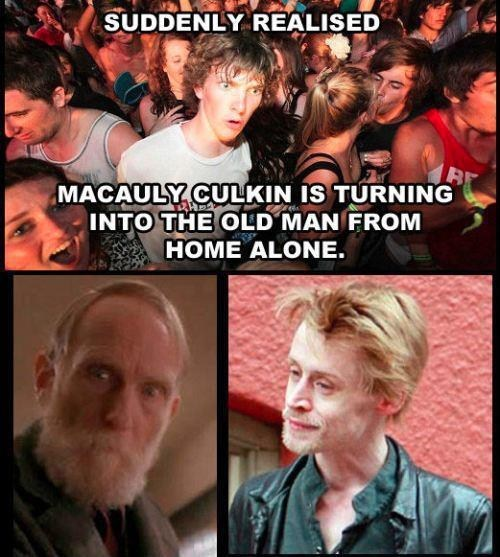 Home Alone,old man,looper,macaulay culkin,actor,celeb