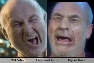 Phil Collins Totally Looks Like Patrick Stewart (Captain Picard)