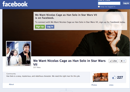 Nicolas Cage as Han Solo in Disney's Upcoming Stars Wars Episode 7