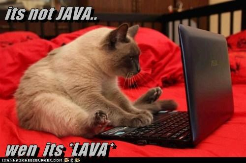 its not JAVA..  wen  its *LAVA*