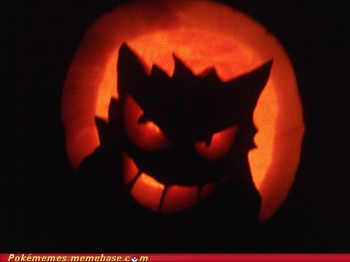 My attempt at a Gengar Pumpkin