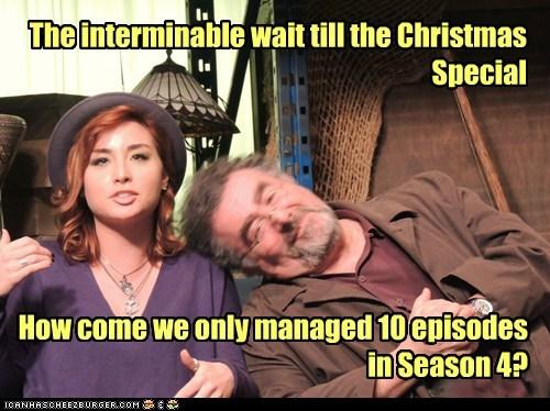 wait,artie nielsen,christmas special,saul rubinek,claudia donovan,allison scagliotti,episodes,warehouse 13,season 4,short