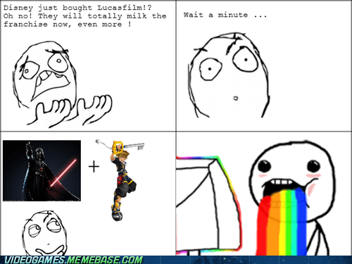 disney,kingdom hearts,star wars,Rage Comics