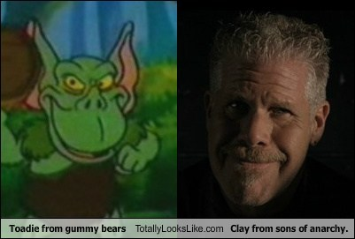 Toadie from Gummy Bears Totally Looks Like Ron Perlman (Clay from Sons of Anarchy)