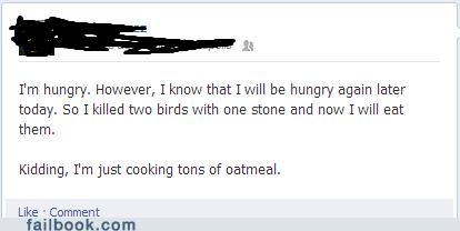 hungry,breakfast,birds,oatmeal