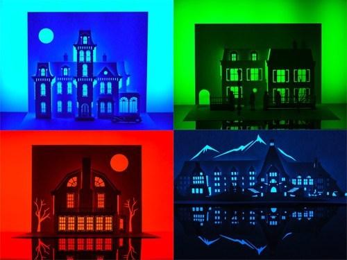 horror film,art,halloween,origami,exhibit