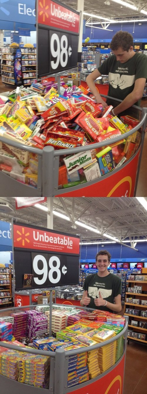 candy,ggg,Walmart,Good Guy Greg,monday thru friday,g rated