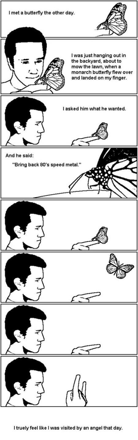 metal,Music,butterfly,backyard