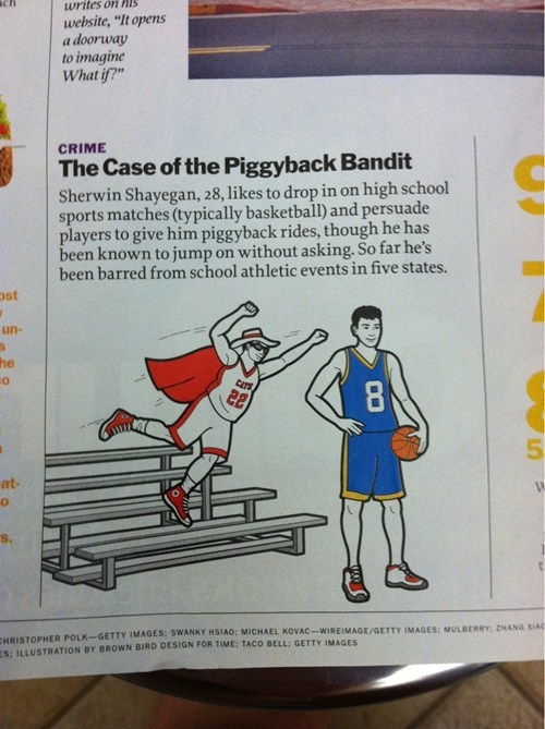 high school sports,still at large,piggyback bandit