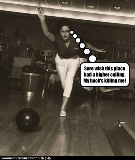 roll,sports,low ceiling,bowling