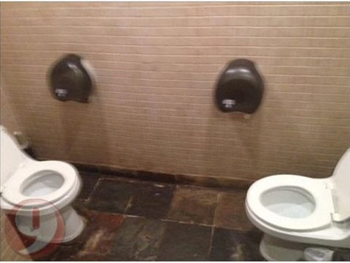 Uncomfortable Bathroom Experience FAIL