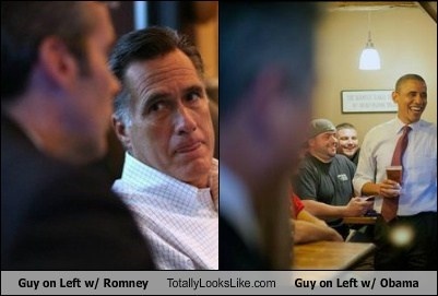 Guy on Left w/ Romney Totally Looks Like Guy on Left w/ Obama