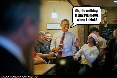 drinking,lens flare,glowing,crotch,barack obama,happy