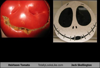 Heirloom Tomato Totally Looks Like Jack Skellington
