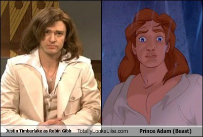 Justin Timberlake as Robin Gibb Totally Looks Like Prince Adam (Beast)
