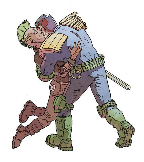 gay,out of context,judge dredd,law,kissing