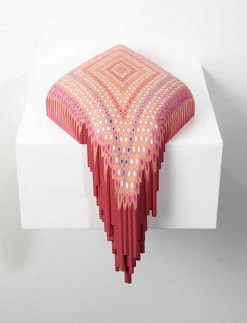 art,sculpture,design,pencils,pencil art