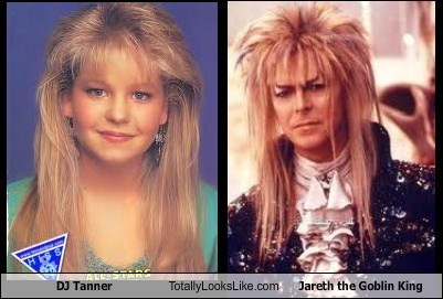 Candace Cameron Bure (DJ Tanner in Full House) Totally Looks Like David Bowie (Jareth the Goblin King in Labyrinth)