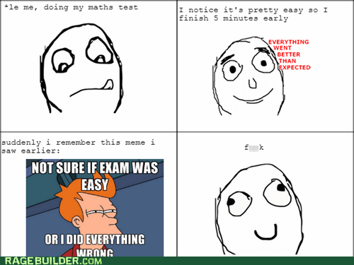 maths test rage