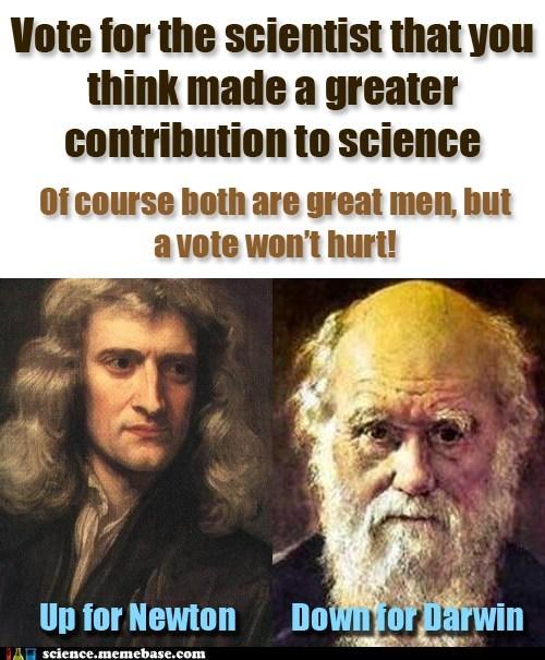charles darwin,vote,issac newton