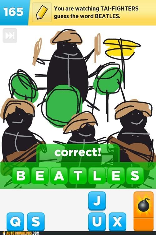 beatles,draw something,let it bee,Beetles