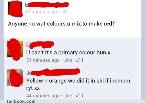 As in Primary School?