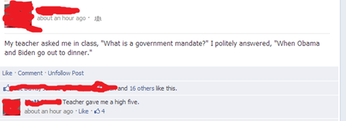 date,mandate,pun,teacher,facebook,barack obama,high five,joe biden