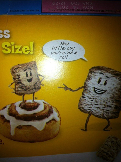Thanks, Captain Frosted Mini Obvious!