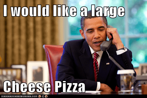 I would like a large  Cheese Pizza