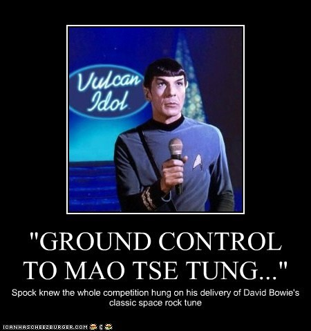 """GROUND CONTROL TO MAO TSE TUNG..."""