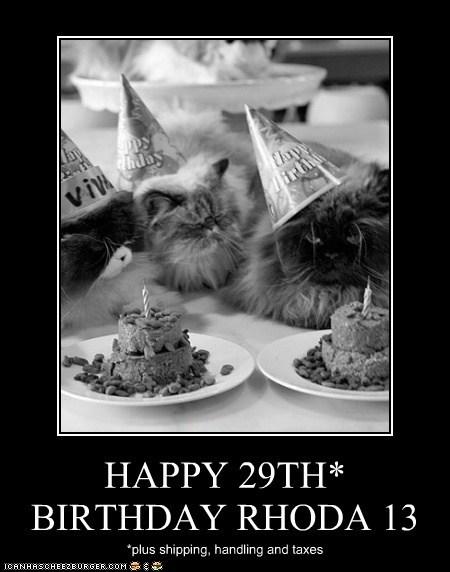 HAPPY 29TH* BIRTHDAY RHODA 13