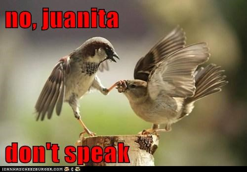 no, juanita  don't speak