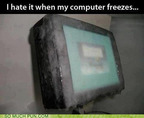 freezes,freezing,literalism,computer,frozen,double meaning