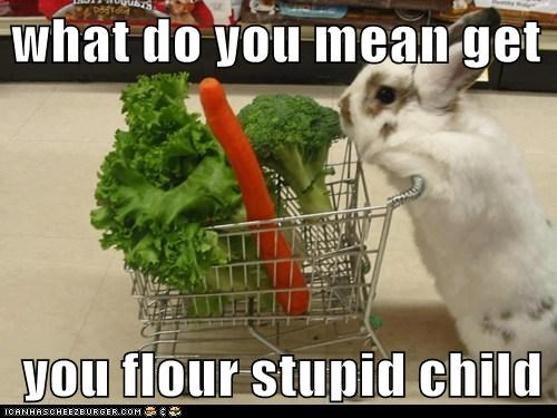 what do you mean get   you flour stupid child