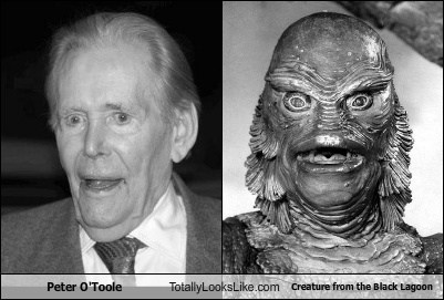 Peter O'Toole Totally Looks Like Creature from the Black Lagoon