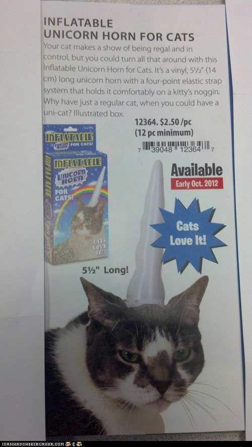 Unicorn horn for your cat