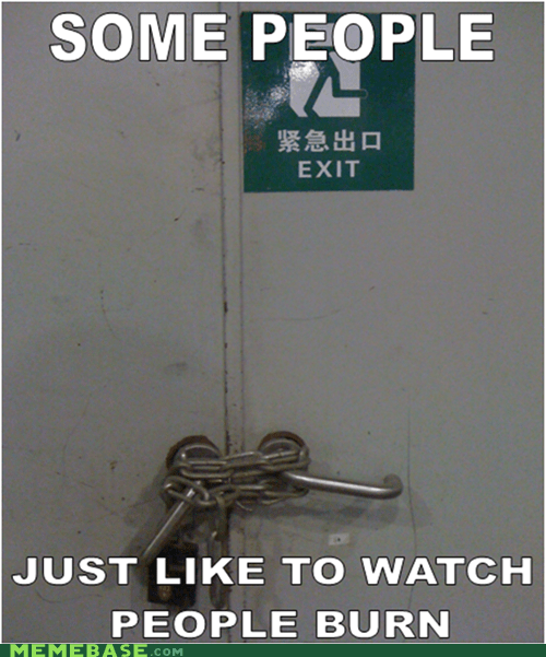 lock,China,fire,i lost my lucky ball and chain,some men,exit