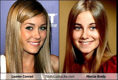 Lauren Conrad Totally Looks Like Maureen McCormick (Marcia Brady)
