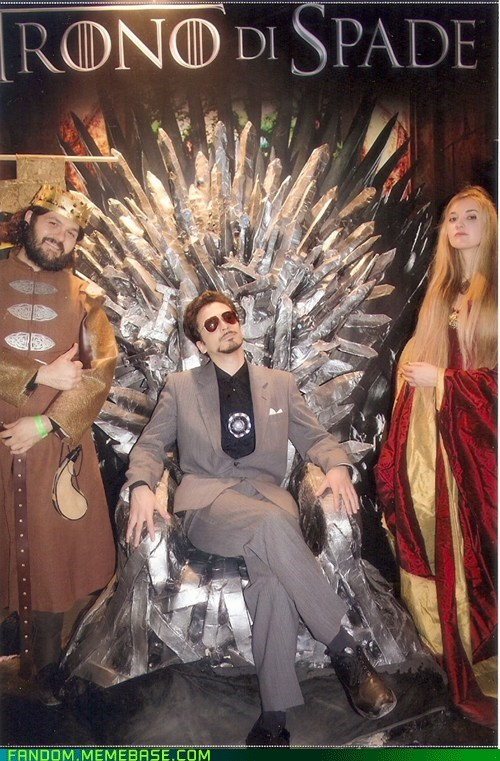 Tony Stark on the Iron Throne