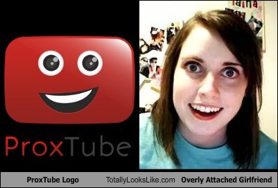 ProxTube Logo Totally Looks Like Overly Attached Girlfriend