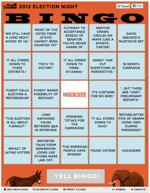 Election Night Bingo