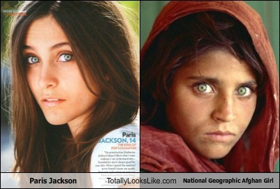 Paris Jackson Totally Looks Like National Geographic Afghan Girl