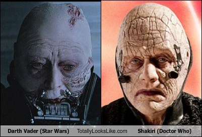 Darth Vader (Star Wars) Totally Looks Like Shakiri (Doctor Who)